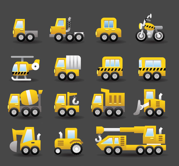 free vector Vector 3 lovely transport
