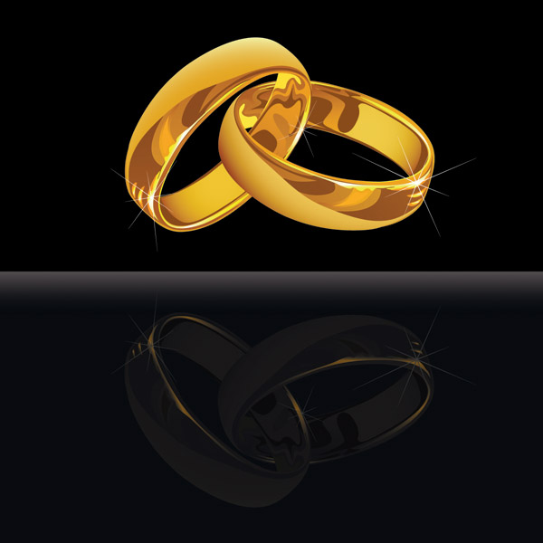 Vector 3 wedding ring Free Vector 4Vector