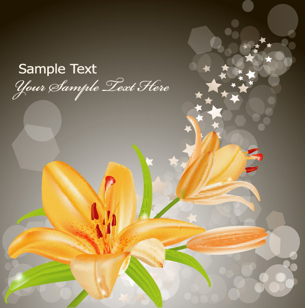 free vector Vector 3 yellow lily
