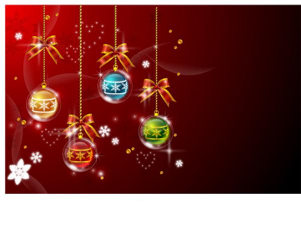 free vector Vector 4 christmas ball hanging