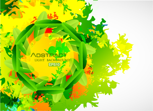 free vector Vector abstract background texture leaves