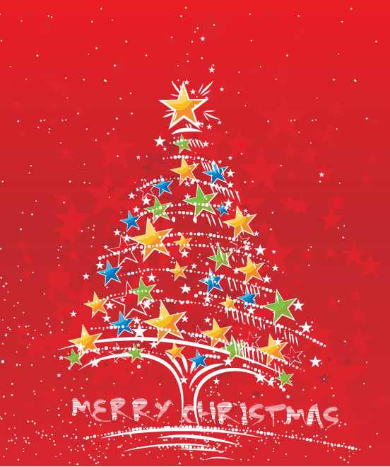 free vector Vector Abstract Christmas Tree