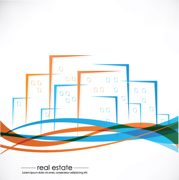 Real Estate Calendar Design : Vector abstract house free