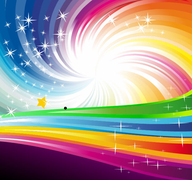 free vector Vector Abstract Rainbow Background