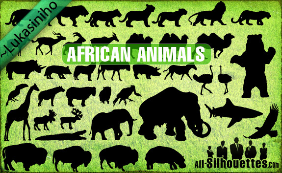 free vector Vector African Animals Silhouettes