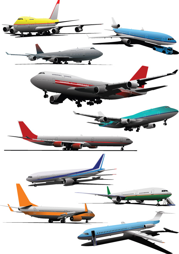 free vector Vector Airliners