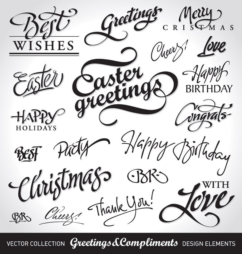 free vector Vector art decorative word