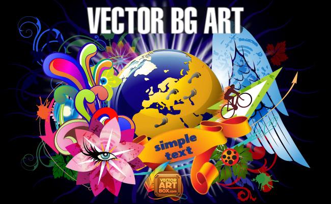 free vector Vector Background Art