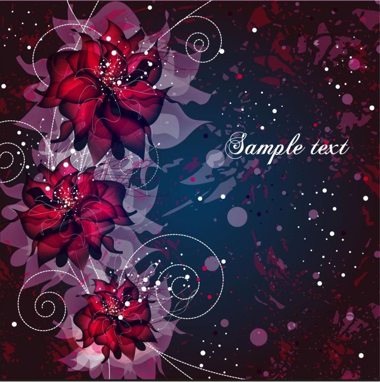 free vector Vector background floral fantasy 02