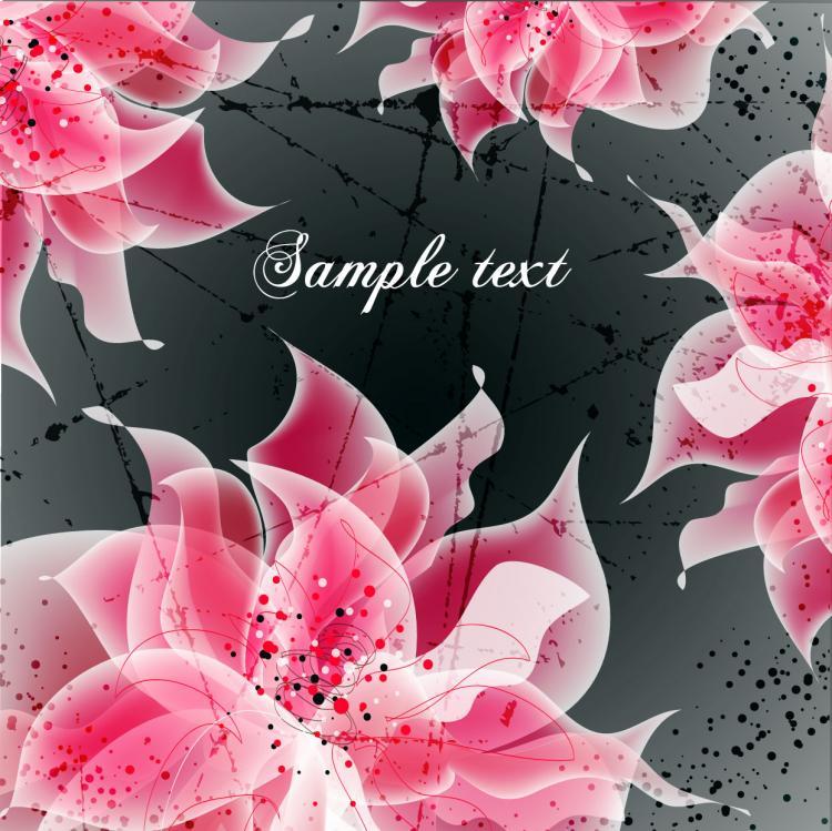 free vector Vector background floral fantasy 04