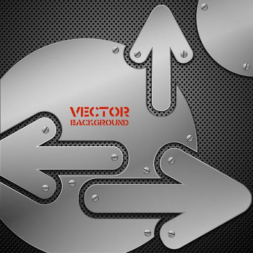 free vector Vector background of 03 metallic