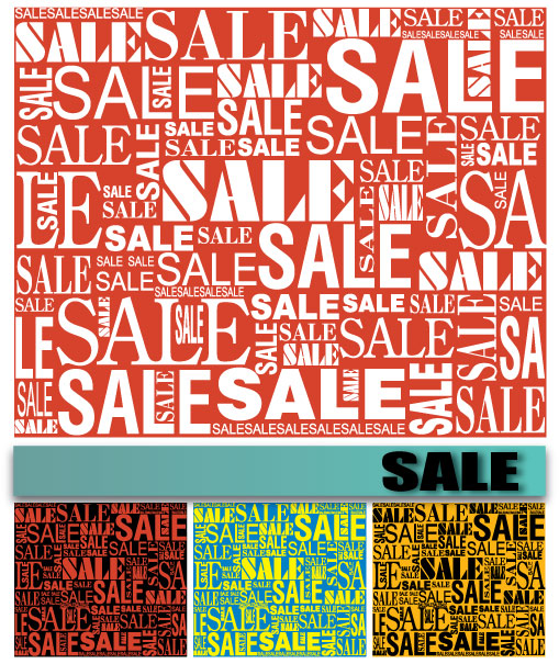 free vector Vector background of sale font