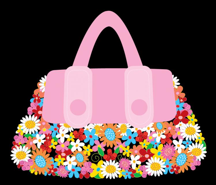 free vector Vector bag flowers