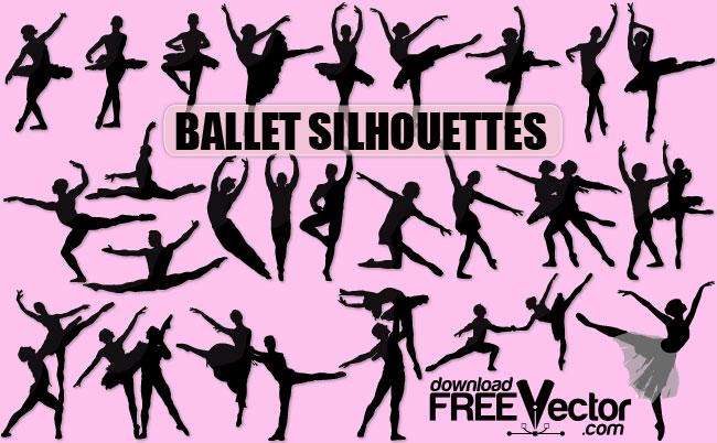 free vector Vector Ballet Silhouette