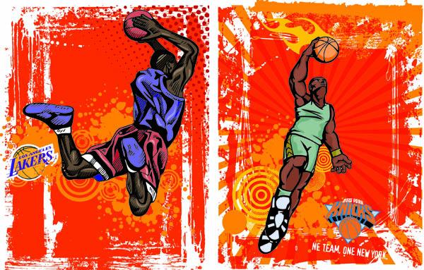 free vector Vector basketball trend