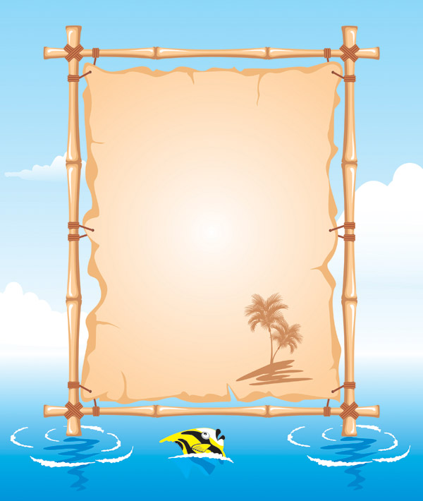 Vector Beach Theme Bulletin Board Free Vector 4vector