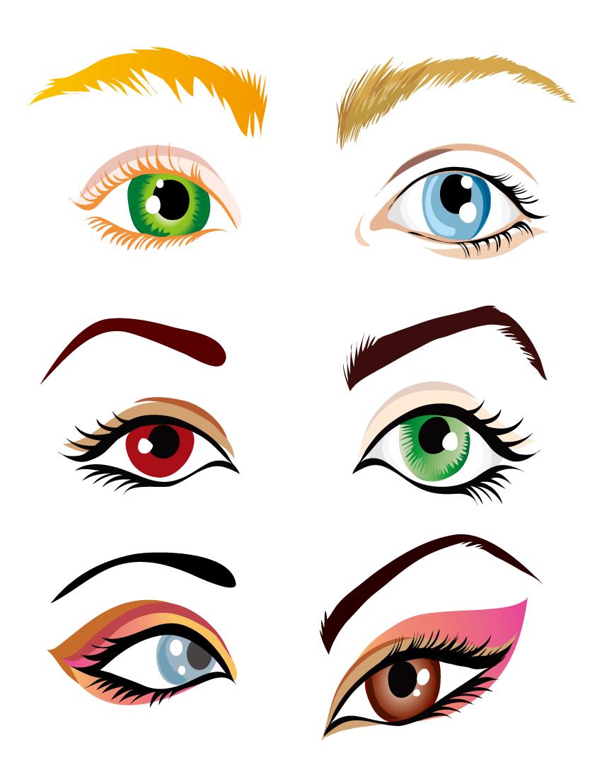 free vector Vector beautiful eyes