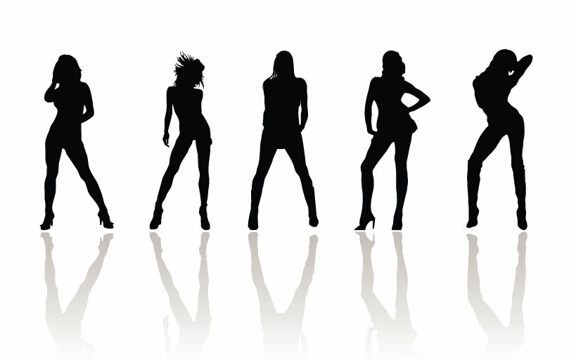 free vector Vector Beauty Woman Silhouettes