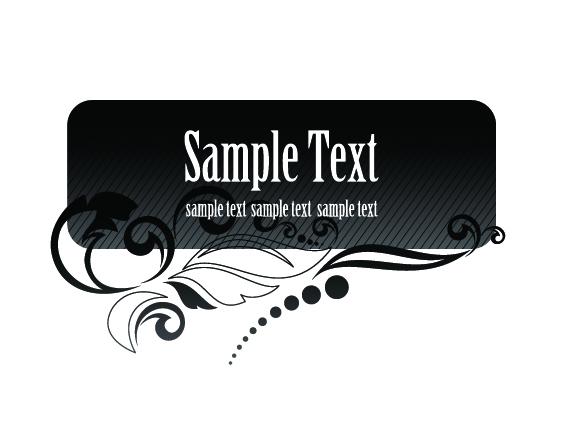 free vector Vector black aesthetic text box