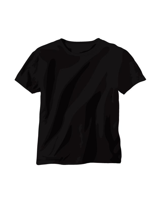 free vector Vector black tshirt