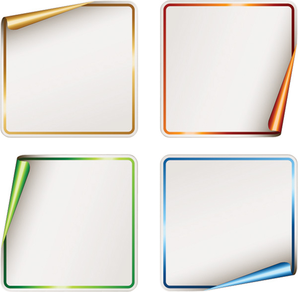 free vector Vector blank stickers