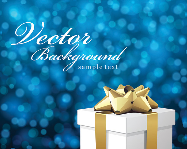 free vector Vector Bokeh Christmas Background
