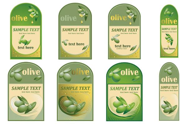 free vector Vector bottle of olive oil paste