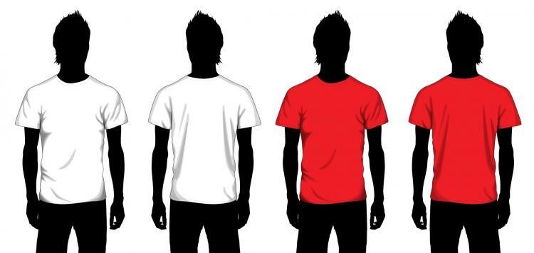 vector tshirt template