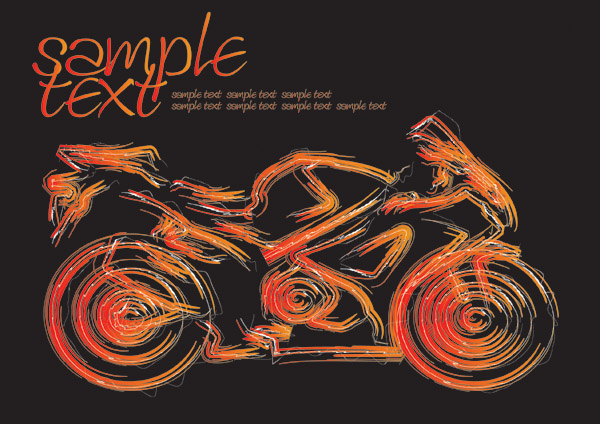free vector Vector brush cars and motorcycles
