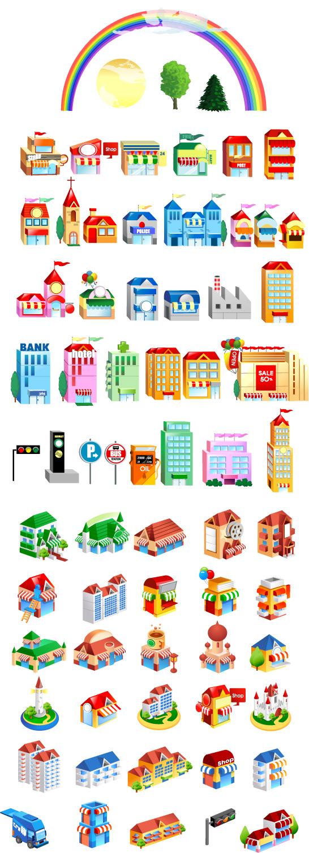 free vector Vector Buildings – Vol 1