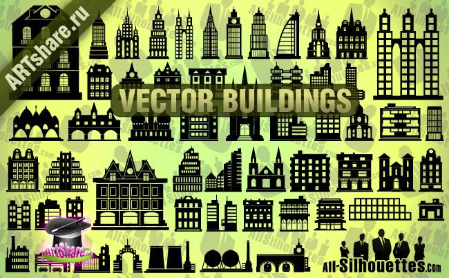 free vector Vector Buildings