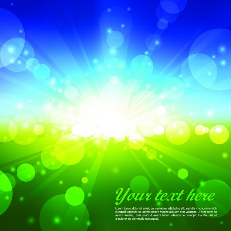 free vector Vector bursts of light