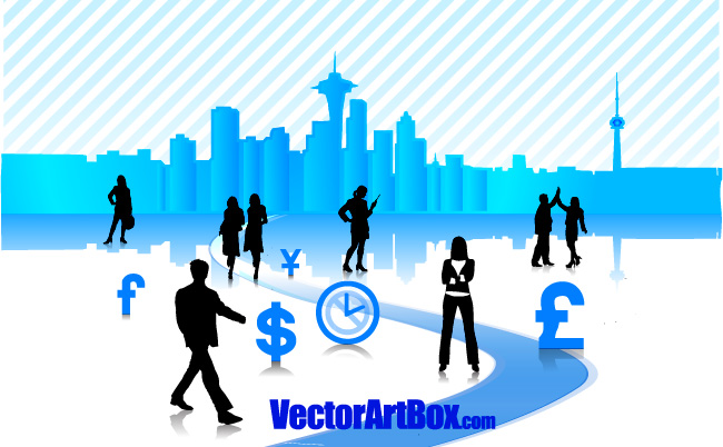 free vector Vector Business City
