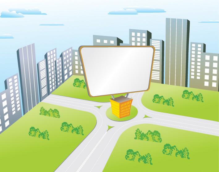 free vector Vector cartoon billboard