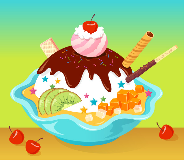 free vector Vector cartoon ice cream