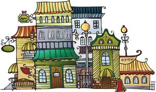 free vector Vector cartoon town house