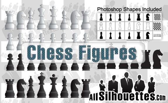 free vector Vector Chess Figures
