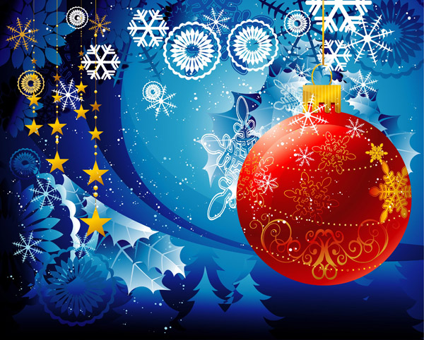 free vector Vector christmas atmosphere
