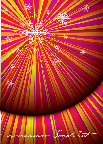 free vector Vector christmas background radiation fun