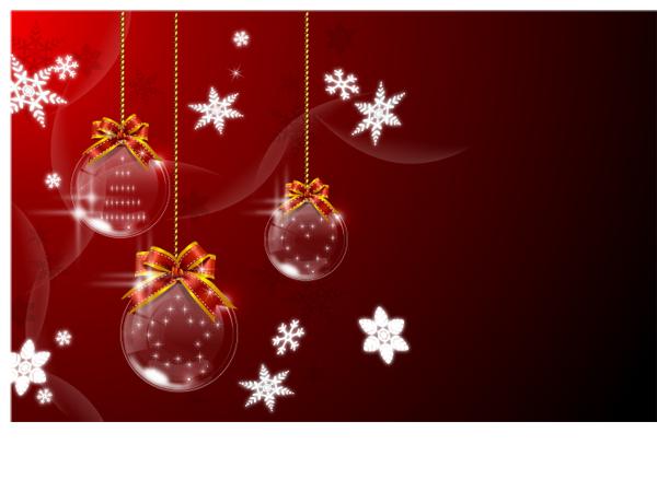 free vector Vector christmas ball hanging 1