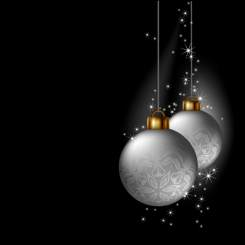 free vector Vector christmas ball hanging