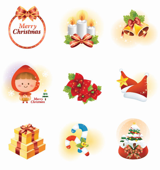 free vector Vector Christmas Icon Set