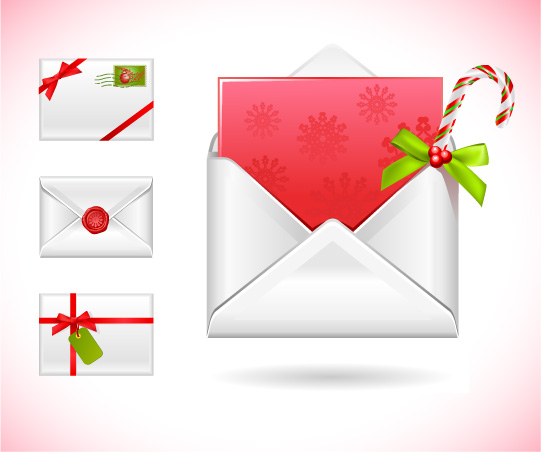 free vector Vector christmas message