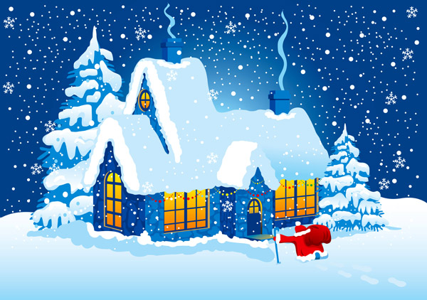 free vector Vector christmas night