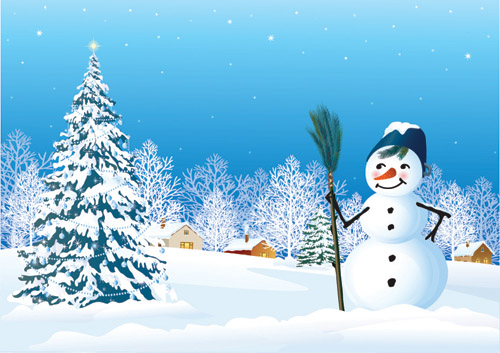free vector Vector christmas snow