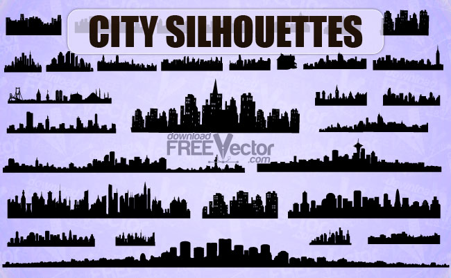 free vector Vector City Silhouettes