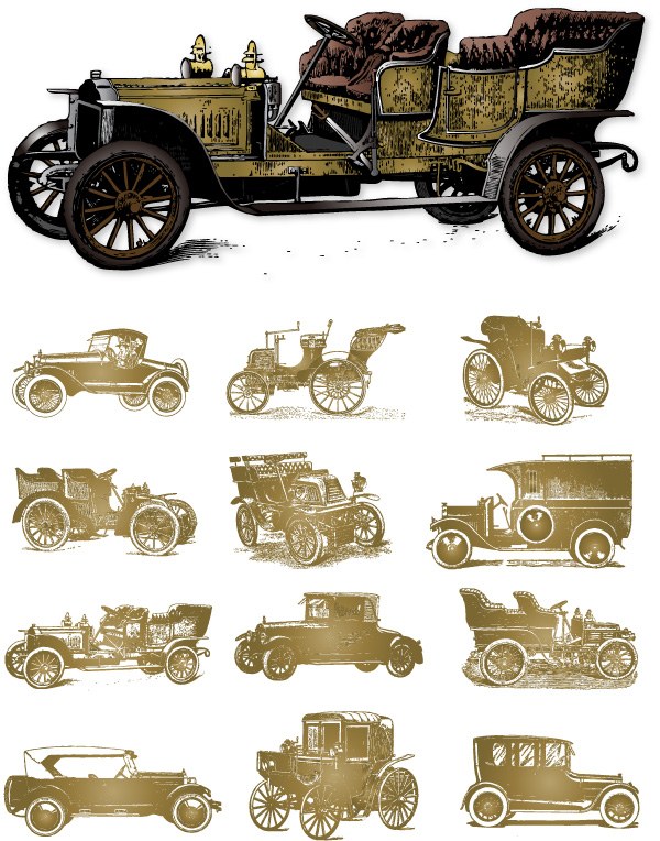free vector Vector classic cars