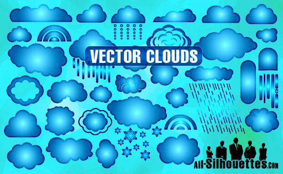 free vector Vector Clouds
