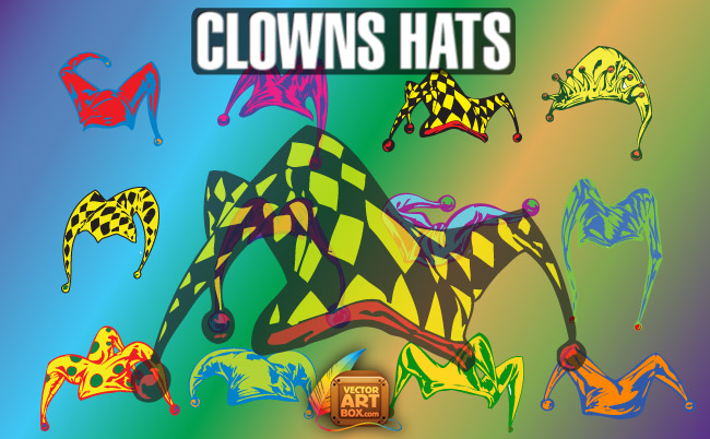 free vector Vector Clowns Hats