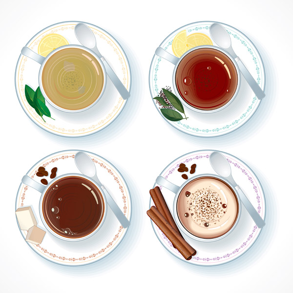 free vector Vector coffee and tea